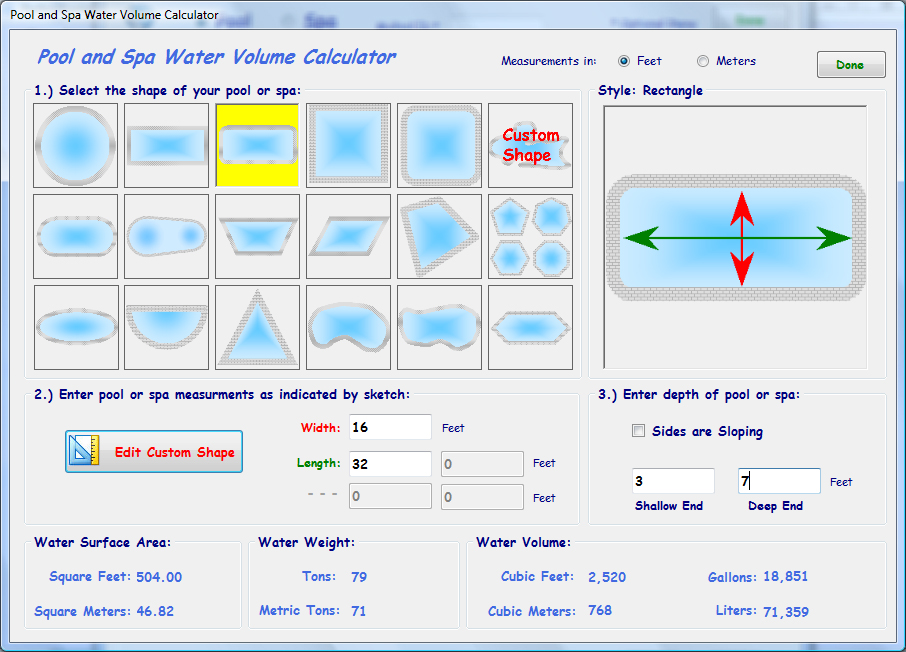Perfect pool and spa pool care software - How to calculate swimming pool volume ...
